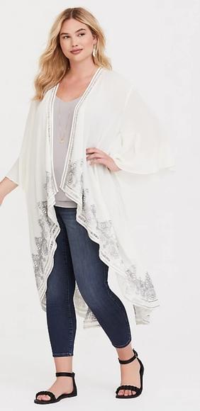 EUC Torrid Longline Kimono